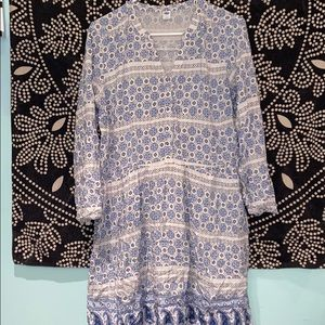 Old navy dress with white slip attached